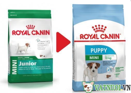 thức ăn cho chó giống nhỏ royal canin mini puppy