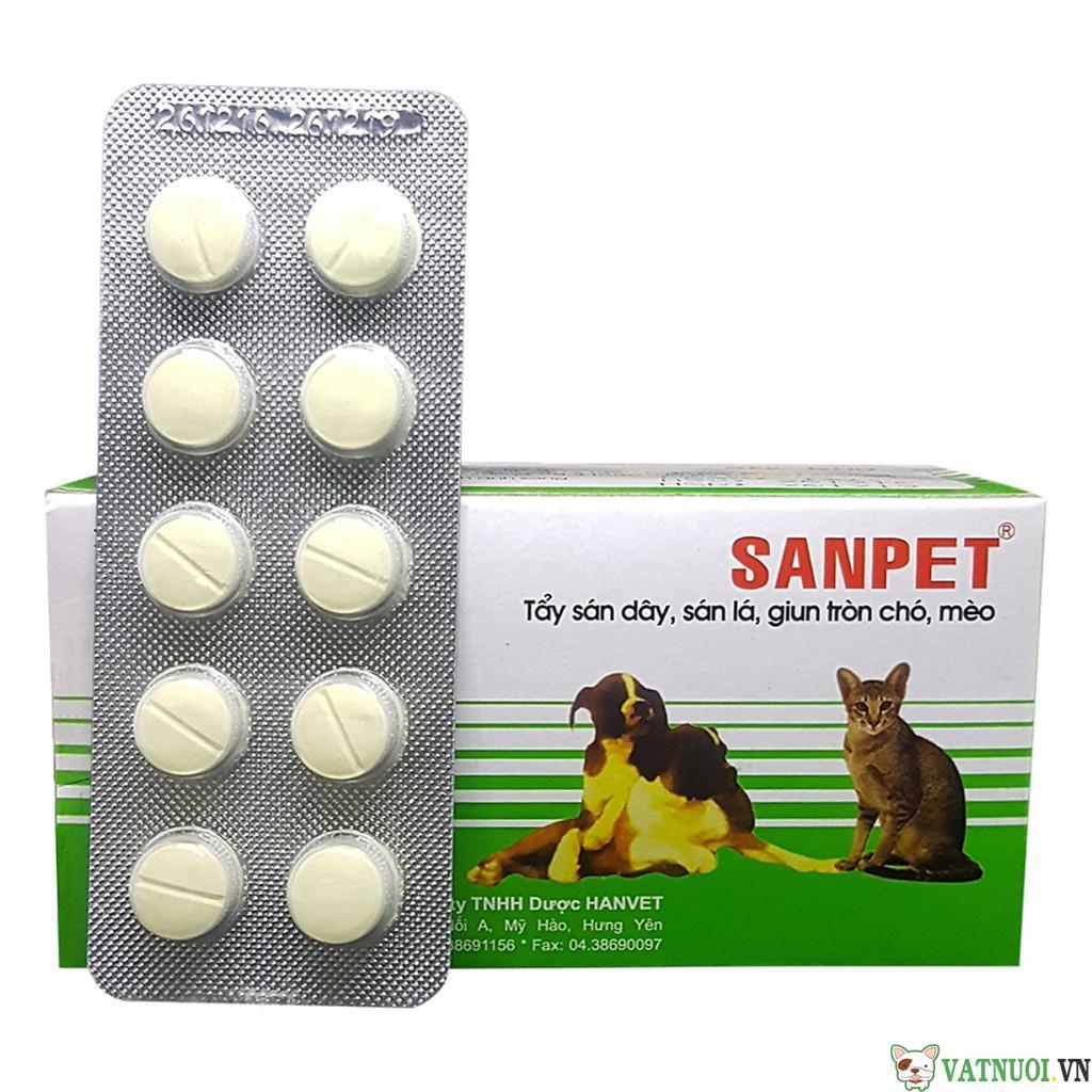 Thuốc tẩy giun cho chó