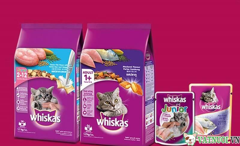thức ăn hạt cho mèo con whiskas junior